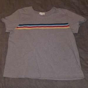 Forever 21+ | Rainbow Stripe Top